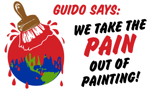 Guido Says: We take the pain out of painting!